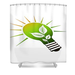 Perspective Ico Light Bulb Shower Curtain by Aged Pixel