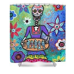 Pescadora Dia De Los Muertos Painting By Pristine Cartera Turkus