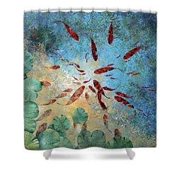 Koi Rotanti Shower Curtain by Guido Borelli