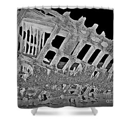 Peter Iredale In Reverse Bw 7 Shower Curtain by Chalet Roome-Rigdon