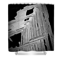 Peter Iredale Reverse Bw 6 Shower Curtain by Chalet Roome-Rigdon