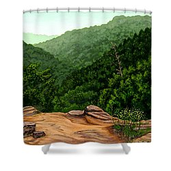 Petit Jean Mountains Shower Curtain by Dustin Miller