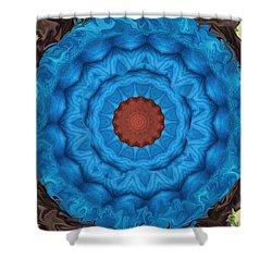 Petunias Inside Out Shower Curtain by Aliceann Carlton