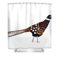 Pheasant Shower Curtain by Isobel Barber