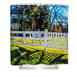 Phelps Cemetery  Shower Curtain by Mary Carol Story