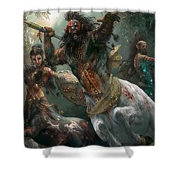 Pheres-band Raiders Shower Curtain by Ryan Barger