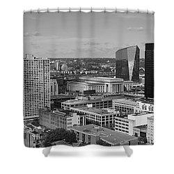 Philadelphia - A View Across The Schuylkill River Shower Curtain by Rona Black