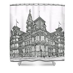 Philadelphia City Hall 1911 Shower Curtain by Ira Shander