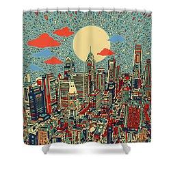 Philadelphia Dream 2 Shower Curtain by Bekim Art