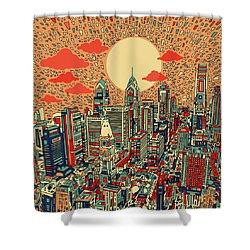 Philadelphia Dream Shower Curtain by Bekim Art