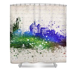 Philadelphia In Color Shower Curtain by Aged Pixel