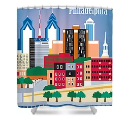 Philadelphia Shower Curtain by Karen Young