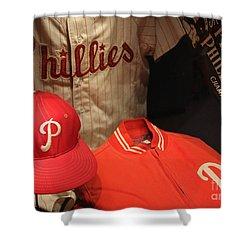 Philadelphia Phillies Shower Curtain by David Rucker