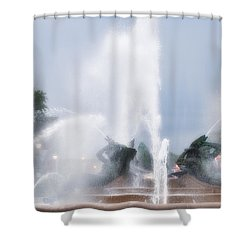 Philadelphia - Swann Memorial Fountain Shower Curtain by Bill Cannon