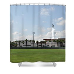 Phillies Brighthouse Stadium Clearwater Florida Shower Curtain by Bill Cannon