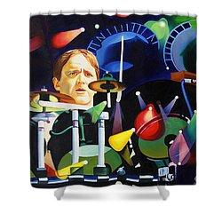 Phish Full Band Fishman Shower Curtain by Joshua Morton