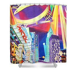 Phish New Years In New York Left Panel Shower Curtain by Joshua Morton