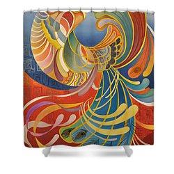 Phoenix Shower Curtain by Ousama Lazkani