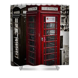 Phone Home Shower Curtain by Erik Brede