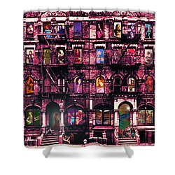 Physical Graffitied  Shower Curtain by Sara Pixel Pixie