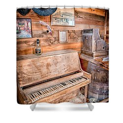 Piano Man Shower Curtain by Cat Connor
