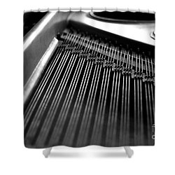 Piano Strings Shower Curtain by Tim Hester
