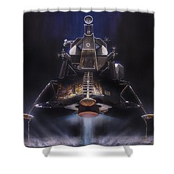 Picking Up Some Dust Shower Curtain by Simon Kregar