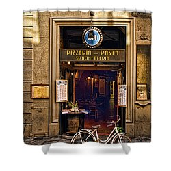 Pickup Or Delivery Shower Curtain by Mick Burkey