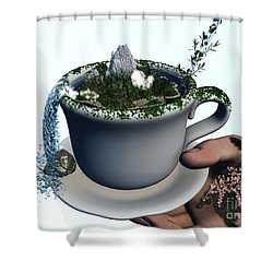 Piece Of Nature Cup Shower Curtain by Eric Nagel