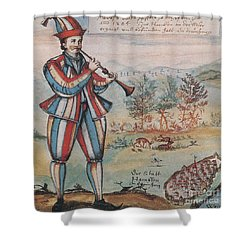 Pied Piper Of Hamelin, German Legend Shower Curtain by Photo Researchers
