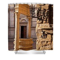 Pienza Tuscany Shower Curtain by Brian Jannsen