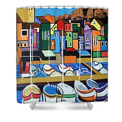 Pier One Shower Curtain by Anthony Falbo