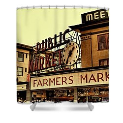 Pike Place Market - Seattle Washington Shower Curtain by David Patterson