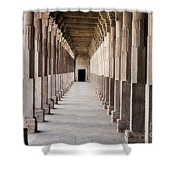 Pillar Hall In The City Of Joy Shower Curtain by Four Hands Art