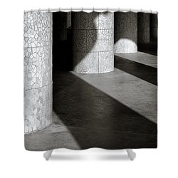 Pillars And Shadow Shower Curtain by Dave Bowman