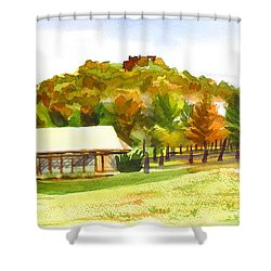 Pilot Knob Mountain 2 Shower Curtain by Kip DeVore