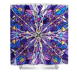 Pineal Opening Shower Curtain by Teal Eye  Print Store