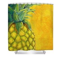 Pineapple Shower Curtain by Karyn Robinson