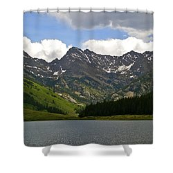 Piney Lake Vail Colorado Shower Curtain by Kristina Deane