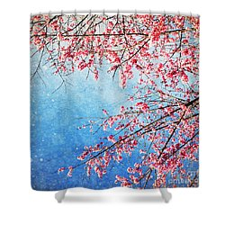Pink Blossom Shower Curtain by Setsiri Silapasuwanchai