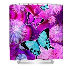 Pink Fantasy Flower Shower Curtain by Alixandra Mullins