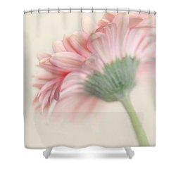 Pink Flower Photography - Pink Nursery Wall Art - Baby Girl Nursery Art - Pale Pink Mint Green Decor Shower Curtain by Amy Tyler