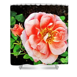 Pink Grace Shower Curtain by Nishanth Gopinathan