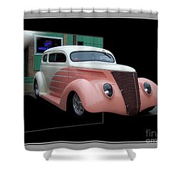 Pink Hot Rod 01 Shower Curtain by Thomas Woolworth