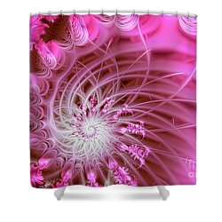 Pink Shower Curtain by Lena Auxier