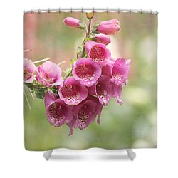 Pink Trumpet Shower Curtain by Kim Hojnacki