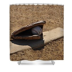 Pitchers Mound Shower Curtain by Bill Cannon