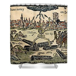 Plague Of London, 1665 Shower Curtain by Granger