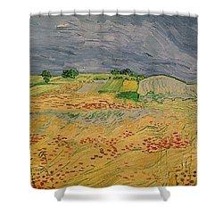 Plain At Auvers Shower Curtain by Vincent Van Gogh