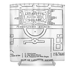 Plan Of Lafayette Square Shower Curtain by Granger